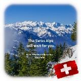 De Zwitserse Alpen zullen op u wachten