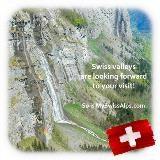 Zwitserse dalen kijken naar u uit