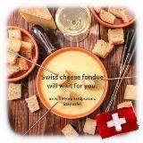 Zwitserse kaasfondue zal op u wachten