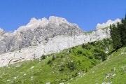 Rocky mountain ridge near Allmenalp