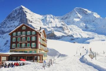 Kleine Scheidegg, Eiger and Jungfrau in winter