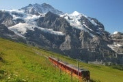 Train near the Jungfrau