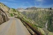 Panoramaweg tussen Grimselpas en Oberaarsee