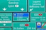 Borden snelweg Zwitserland