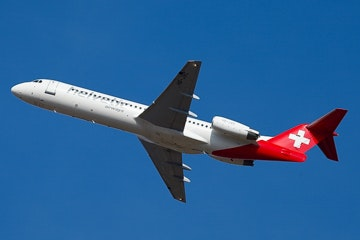 Fokker 100 of Helvetic Airways