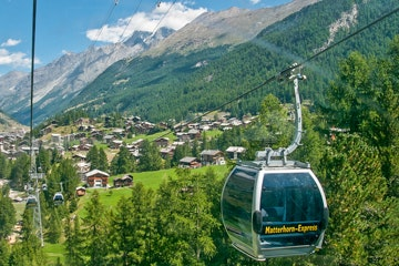 Zermatt cable car to Furi