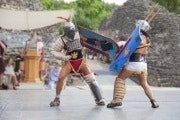 Roman gladiator fight