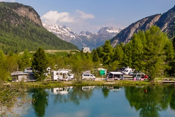 Camping at Morteratsch