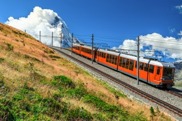 Gornergrat railway with Matterhorn