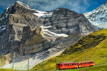 Jungfraujoch train near Kleine Scheidegg