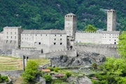 Town walk Bellinzona with one castle