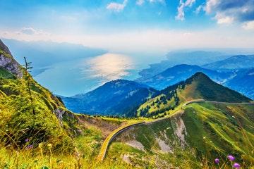 Rochers-de-Naye view Lake Geneva