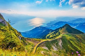 Rochers-de-Naye uitzicht Meer van Genève