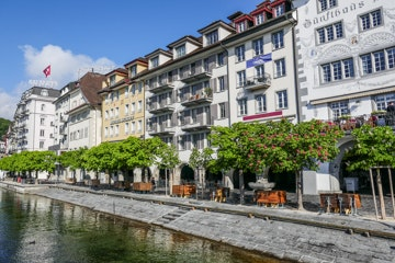 Rivier de Reuss in Luzern