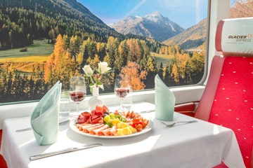 Glacier Express lunch