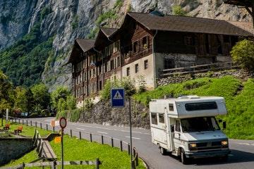 Motorhome in Lauterbrunnen