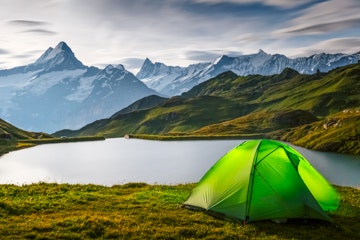 Tent at Bachalpsee