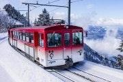 Winterdagkaart voor de Rigi
