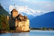 Lake Geneva, Lausanne, Montreux and Chillon castle from Geneva
