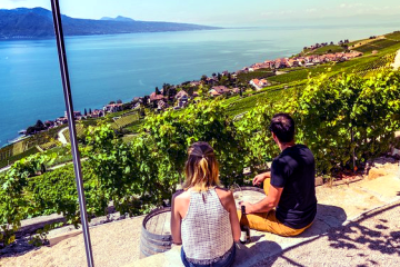 Day trip to the Lavaux vineyards, Vevey, Montreux and Chillon Castle from Geneva