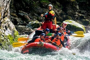 Adventurous Engadin rafting tour
