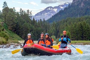 Scenic family rafting tour