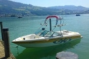 Lake Zurich with a private speedboat