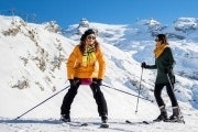 Beginner ski experience at Mount Titlis