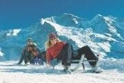 Een dagtocht op sneeuwschoenen en met de slee in de Jungfrauregio
