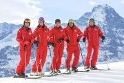 Skiing or snowboarding for beginners in Grindelwald