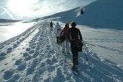 Sneeuwschoentocht van twee uur in de Jungfrauregio