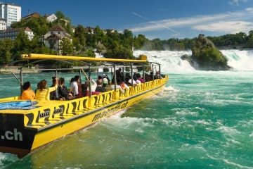 Rhine Falls boat tour to the rock