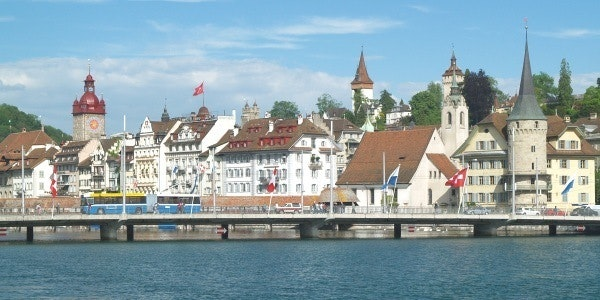 Lucerne seen from the lake