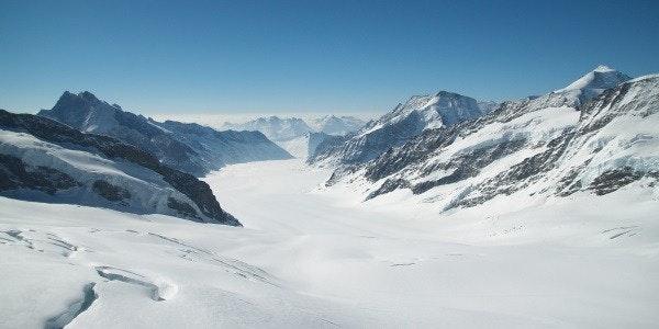 Aletschgletsjer vanaf Jungfraujoch