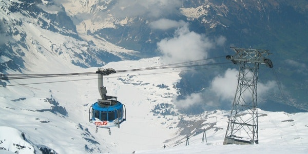 Rotating cable car to Titlis
