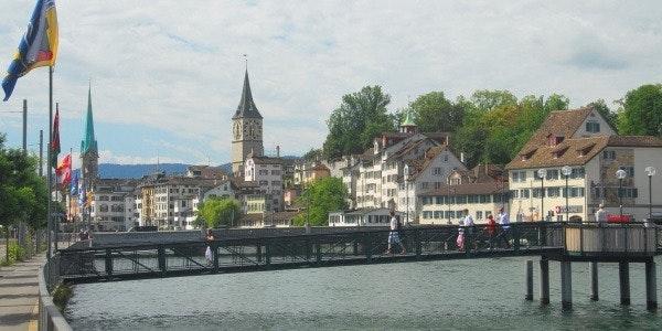 Old town centre of Zurich