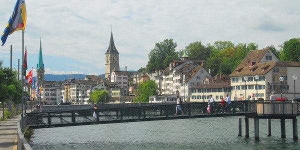 Old town centre of Zurich