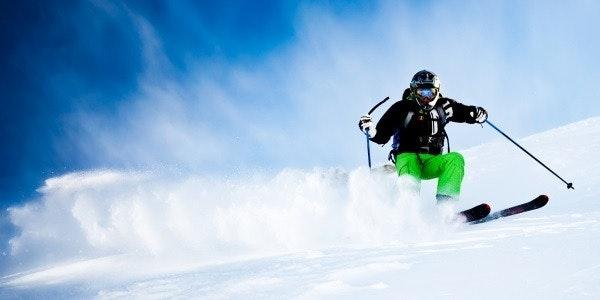 Skier powder snow