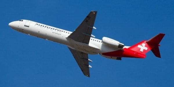 Fokker 100 of Helvetic Airways