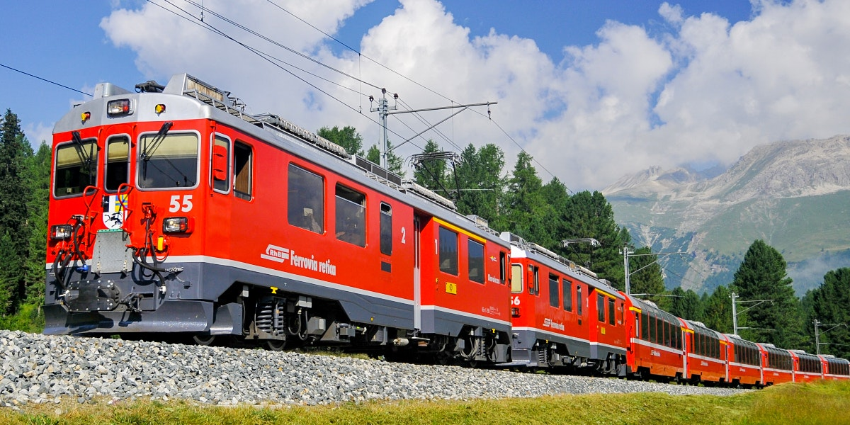 Bernina Express near Pontresina