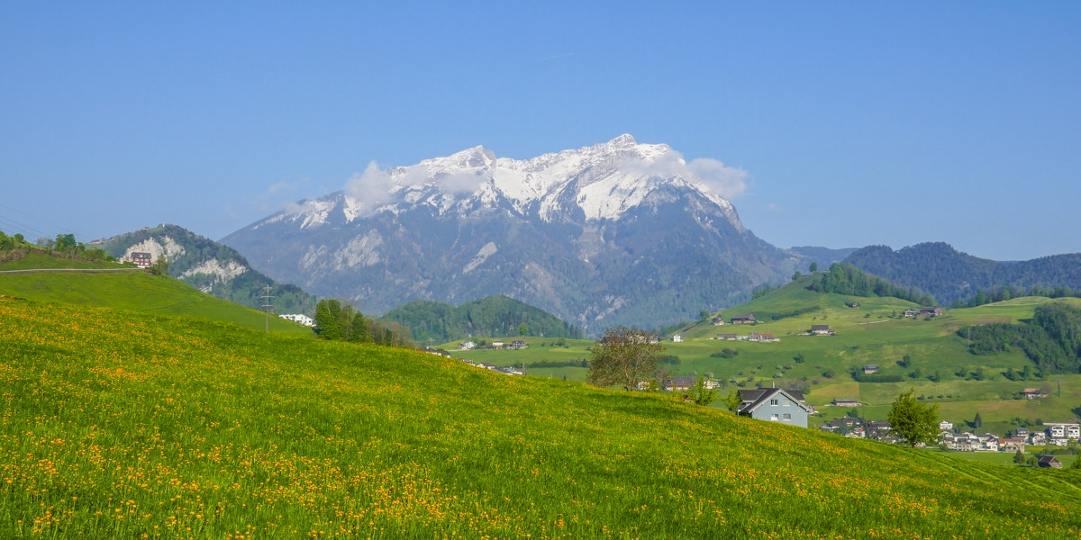 Mount Pilatus from Stans