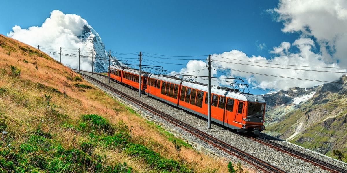 Train from Gornergrat to Zermatt