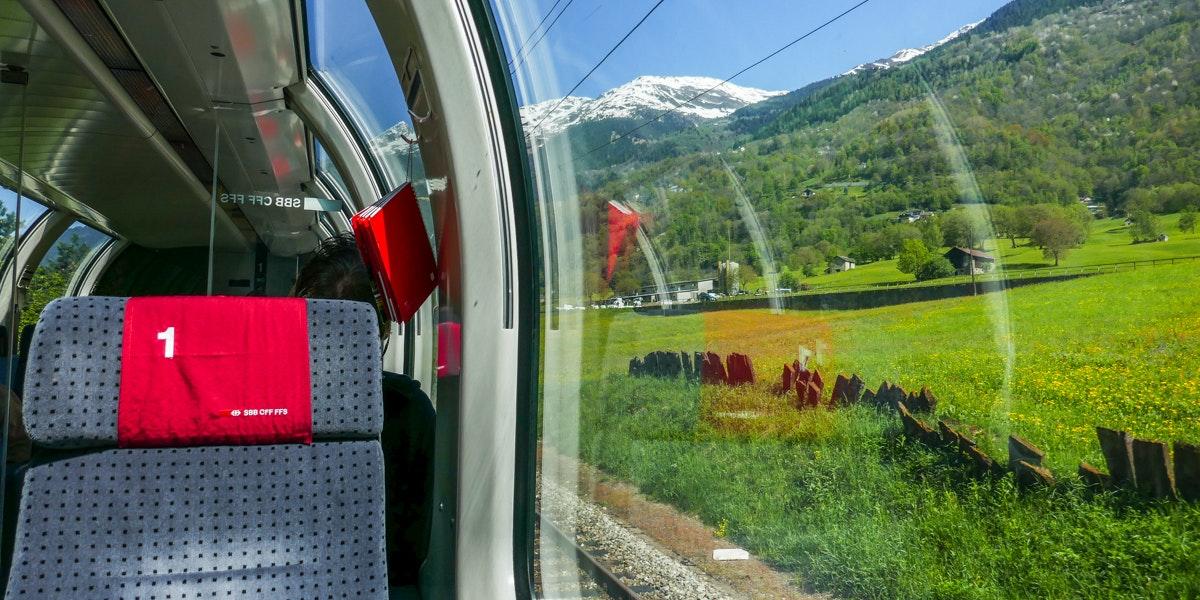 Uitzicht Gotthard Panorama Express