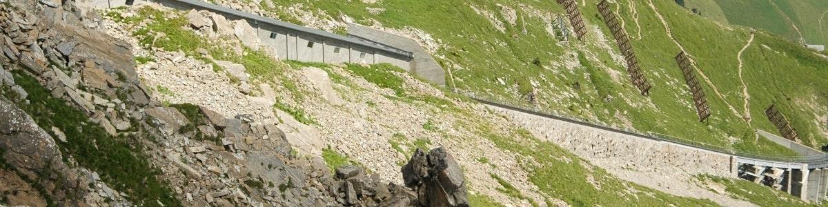 Traject van kabeltrein naar Niesen