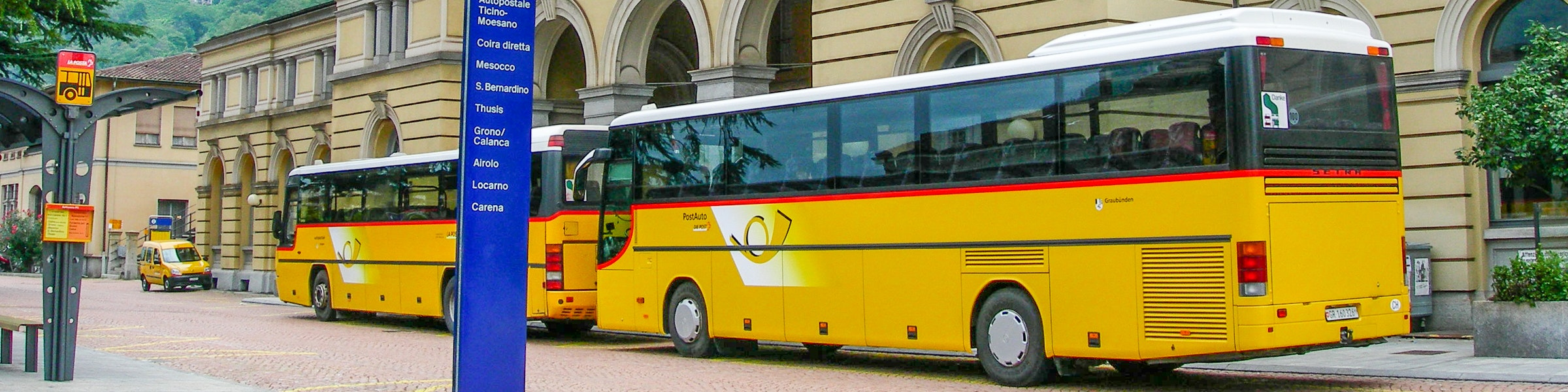 Postbussen in Bellinzona
