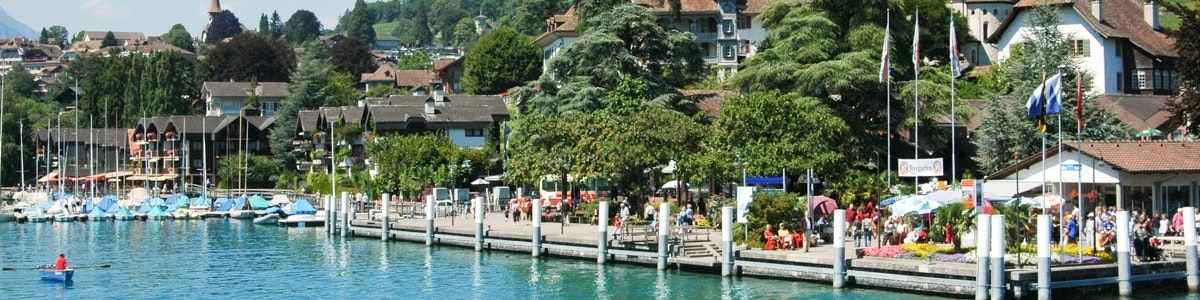 Boat dock in Spiez