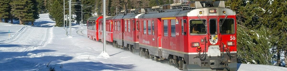 Bernina Express to Tirano near Pontresina