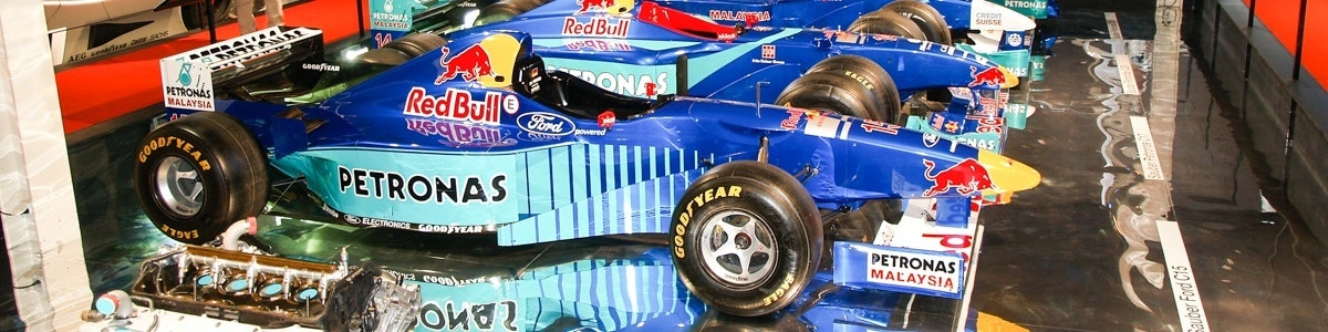 Raceauto's in het Verkehrshaus