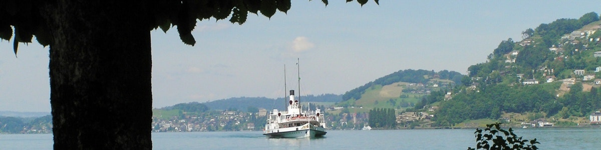 Boat heading for Vitznau