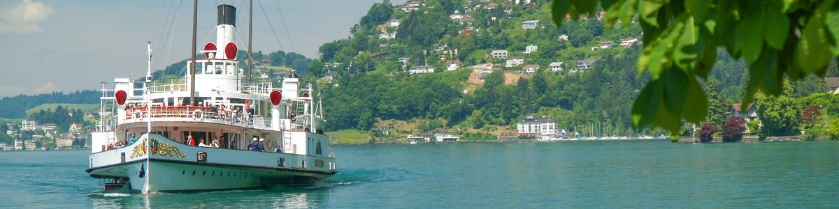 Boot op weg naar Vitznau